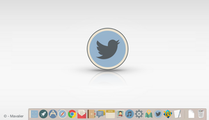 Twitter Icon - Macintosh/Windows/Linux - Dock Icon by Mavalier
