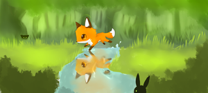 Little Fox cub by Kyuwa-kun