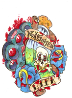 Poisoned Life Tattoo flash by Vincesmind