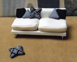 Monochromatic Shapes, Mini pillow set by Kyle-Lefort