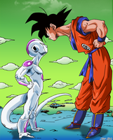 Goku VS Freezer by Niiii-Link
