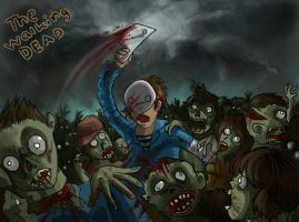 The Walking Dead 'Zombie rage' by Equifox