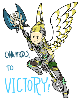 Smite - Onwards, to Victory! (Chibi) by Zennore