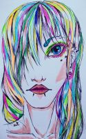 Rainbow face by TopHat-And-Tentacles