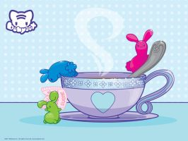 Jelly Bunny Tea Party by lafhaha