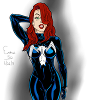 Jessica Rabbit venom suit by erebus50
