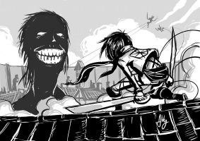 Daily Sketching: Attack on Titan by AbigailRyder