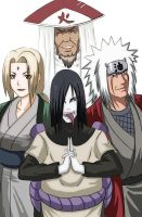 hokage and sannin by XINGYIYI