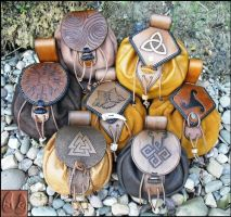 Norse Belt Pouches by Half-Goat