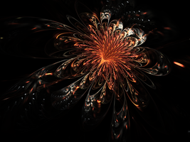 Flower Fireworks - FOTM July (Orange) Entry v1 by Katerine459