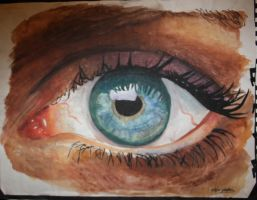 Watercolour eye by Emerald-Magpie
