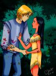 Pocahontas and John Smith by Charlylein