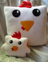 Large Cock Block Pillow by P-isfor-Plushes