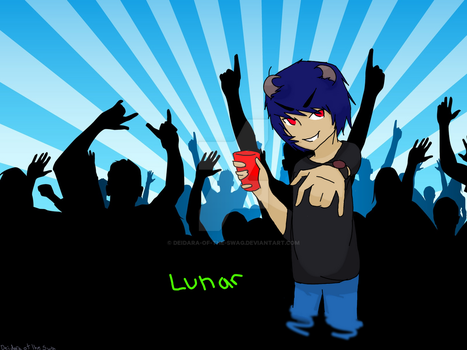 Party with lunar by Deidara-of-the-swag