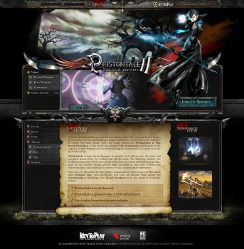 Priston Tale 2 Web Design by lKaos