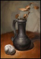 Still life with a clay vase by Emil-K