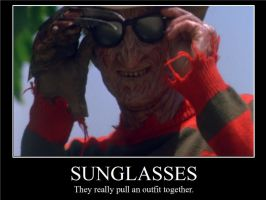 Sunglasses Demotivational Poster by scarehuman