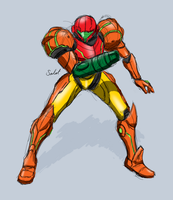 Sketchy Samus by heavycarcass