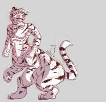 white taur tiger by DrowsyLiger