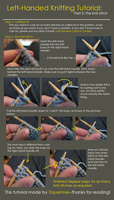 Left-Handed Knitting Tutorial by Trauermei