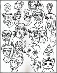 Drawin a buncha heads. by Slingshot2000