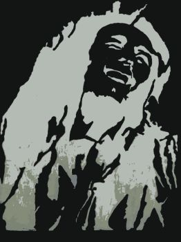 bob marley wall sketch by getshail