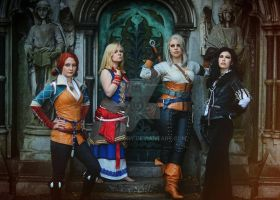 the women of witcher  by Santatory
