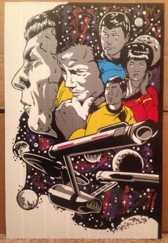 Star Trek 50th Duct Tape Art by DuctTapeDesigns
