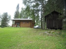 Our Rent Cabin And The Log Shed by Lightningball