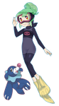 Pokemon Trainer: Diving Suit Alola by Ponipoke