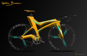 Concept Bike Design - Golden Breeze by all-one-line