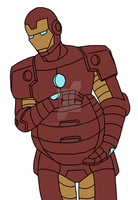 Mpreg Iron Man (Ultimate Spider-Man) by Spinosaur123