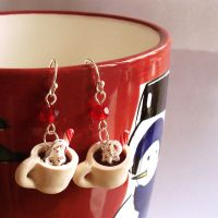 Hot Cocoa Charm Earrings - Sterling Silver by FatallyFeminine