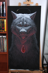 Work in progress - wolf and ruby by KatrineH