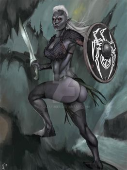 Dark Elf Warrior by JLazarusEB