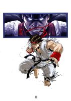 RYU VS BISON by deemonproductions