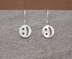 Emoticon Sterling Earrings by nicholasandfelice
