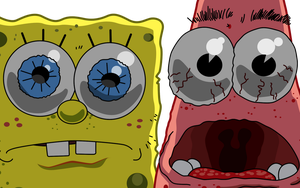 Shocked Spongebob Squarepants and Patrick Star by ropa-to