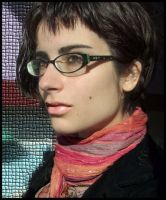 new glasses and short hair by marjol3in