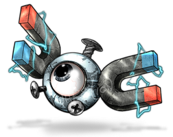 081 - Magnemite by Narsilion