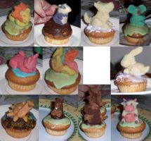 Almond Paste Animals by Ultyzarus