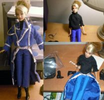 Riza Hawkeye Barbie Doll by beccastareyes