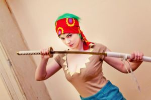 Strong World Fem!Zoro by MayWolf23