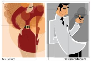 Ms. Bellum and Prof Utonium by sir-rudolph