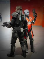 Asari and Commander MCM Oct '12 by KaniKaniza