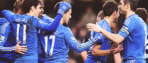 CFC players celebrating the goal vs Wigan by DONICFC