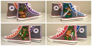 Teenage Mutant Ninja Turtles Sneakers by breathless-ness