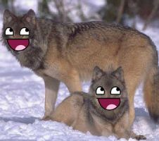 Happy wolves by Naphula