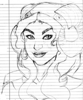 homestuck: messy sketch aradia by NeoAngelSS