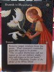 Magic the Gathering alter: Swords to Plowshares by stitch-84